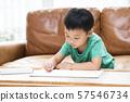 그림 그리기를하는 소년 57546734