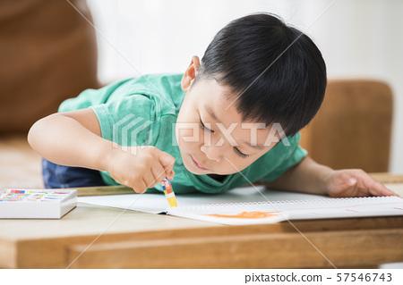 畫一個圖像的男孩 57546743