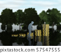 CG 3D 일러스트 입체 실루엣 노인 노인 노인 노후 생활 자금 57547555