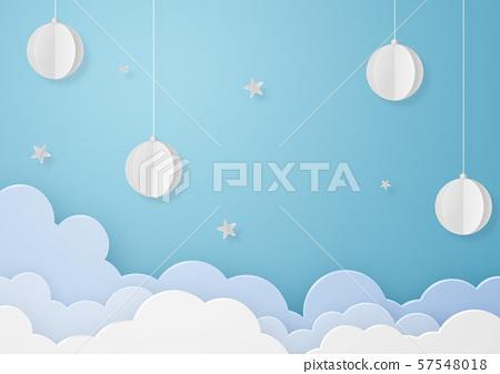 종이 공예 - 하늘 - 구름 - 장식 - 별 57548018