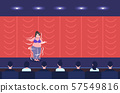 fat overweight girl belly dancer performing smiling woman dancing on stage obesity weight loss 57549816