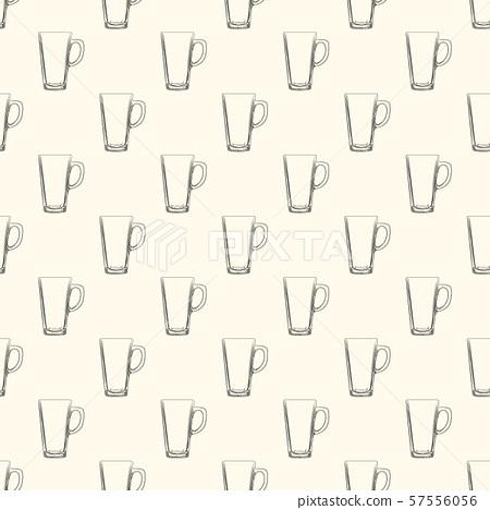 Set of Irish Coffee mugs seamless pattern. Hand 57556056