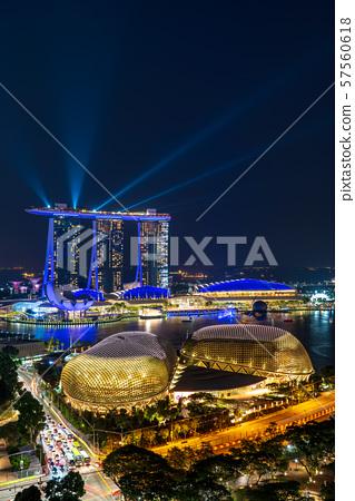 [新加坡風光]濱海灣夜景和激光錶演 57560618