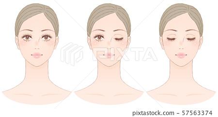 女性的臉門面 57563374