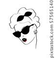 Halloween vampire design sketch woman in style pop art 57565140