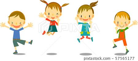 孩子們跳舞 57565177