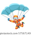 Parachute skydiver icon 57567149