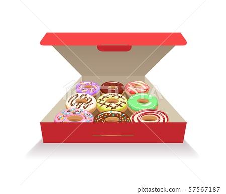 Donuts in box 57567187