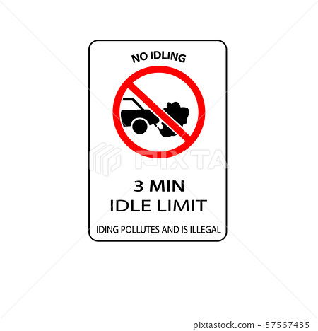 USA traffic road signs. no idling for more than 3 57567435