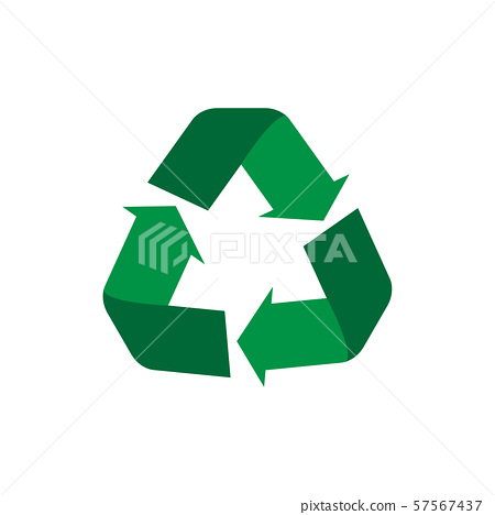 Recycle symbol flat icon, concept of world 57567437