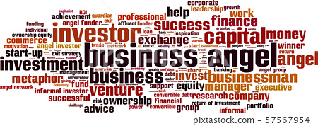 Business angel word cloud 57567954