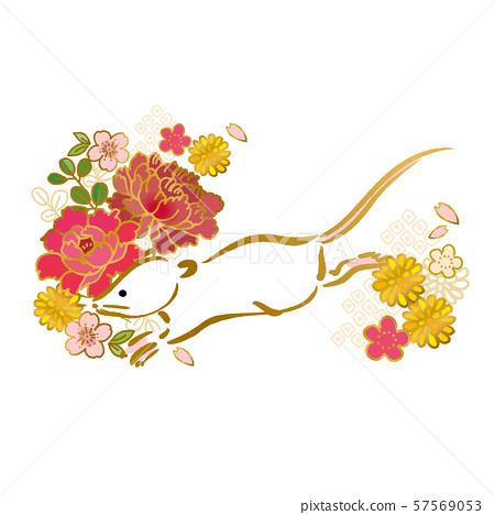 新年卡2020材料日本模式兒童年 57569053