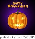 Scary Jack O Lantern halloween pumpkin 57570005