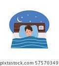 침대에서자는 남자 일러스트 57570349