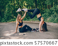 Sport girls in a park 57570667