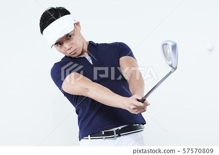 高爾夫球員男高爾夫球 57570809