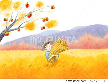 秋天的插圖 57578094