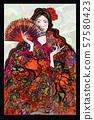 Flamenco spanish dancer woman 57580423