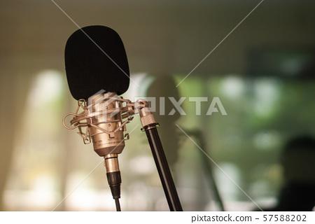 Recording room Singing concept 57588202
