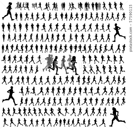 250 different runners silhouettes collection 57590115
