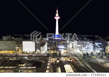Kyoto night view 57590521