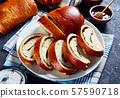 Poppy cake, Makovnjaca, horizontal view from above 57590718