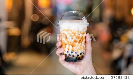 Chinpa夜市Chinjucha茶女人夜市木薯粉木薯奶茶 57592438