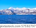 知床山脈在冬天 57592797