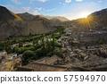 Leh city and Leh Palace, Leh - Ladakh, Jammu and 57594970