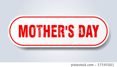 mother's day sign. mother's day rounded red 57595881