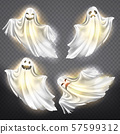 ghosts, phantoms set. Halloween spooky spirits 57599312