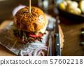 Traditional beef hamburger 57602218