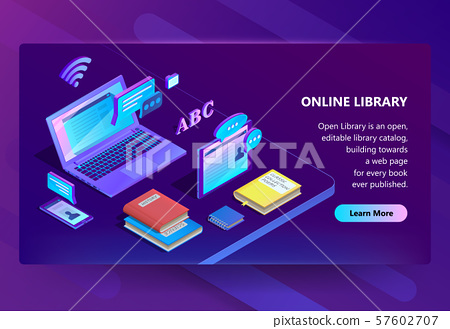 site with online library, e-learning portal 57602707