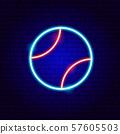 Baseball Bal Neon Sign 57605503
