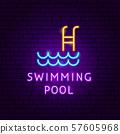 Swimming Pool Neon Label 57605968