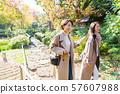 여행 가을 단풍 모녀 부모 가족 여행 이미지 57607988