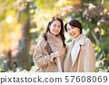 Travel, women, autumn 57608069