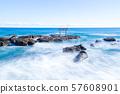 Ibaraki Prefecture Oarai Coast Seaside Torii at Tomae Shrine 57608901