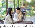 여행 여성 레스토랑 가을 관광 이미지 57608953