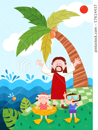 Concept of bible school or camp vector illustration 006 57614437