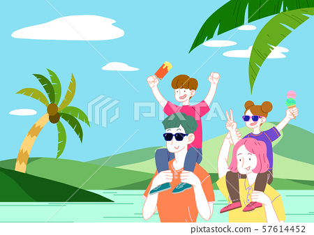 Concept of a happy and loving family vector illustration 003 57614452