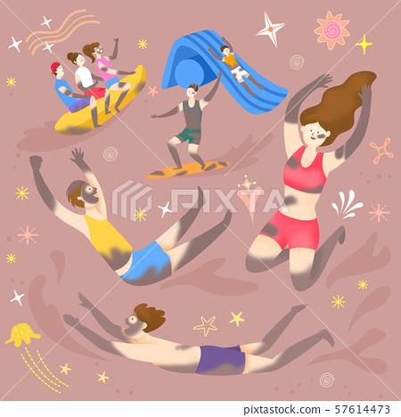 Concept of summer outdoor activities, summer festivals vector illustration 005 57614473