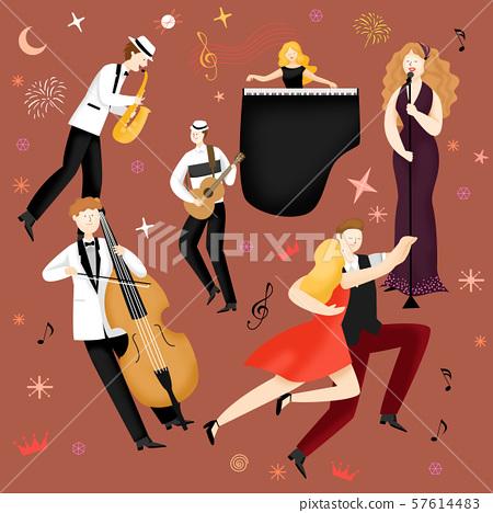Concept of summer outdoor activities, summer festivals vector illustration 011 57614483