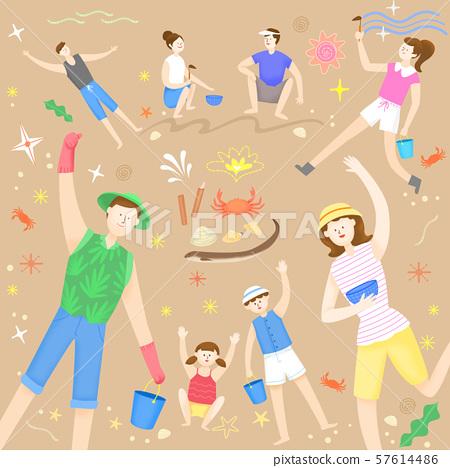 Concept of summer outdoor activities, summer festivals vector illustration 004 57614486