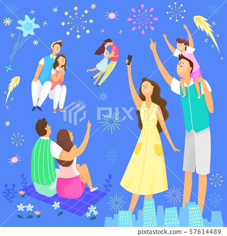 Concept of summer outdoor activities, summer festivals vector illustration 001 57614489