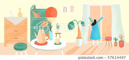 Concept of various social issues flat vector illustration 005 57614497