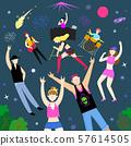 Concept of summer outdoor activities, summer festivals vector illustration 010 57614505