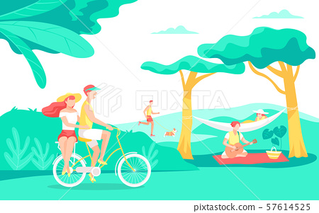 Summer vacation concept flat design illustration 014 57614525