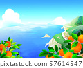 Beautiful nature landscape in summer season vector illustration 003 57614547