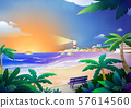 Beautiful nature landscape in summer season vector illustration 006 57614560